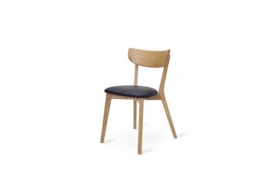 Designová stolička Kian přírodní - černá