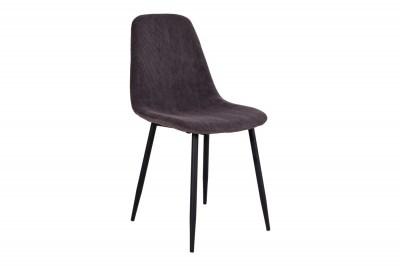 Designová židle Myla tmavě šedý manšestr - černé nohy