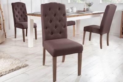 Designová židle Queen hnědá