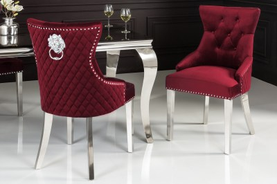 designova-zidle-queen-lvi-hlava-samet-cervena-1