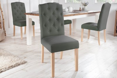 Designová židle Queen světlešedá