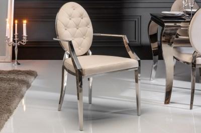 Designová židle s opěrkami Rococo II béžová