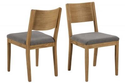 Designová židle Tomas šedá - přírodní