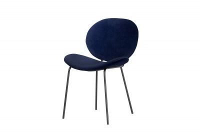Designová židle Wilson modrý samet