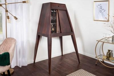 Designová barová skříňka Tori 150 cm hnědá sheesham