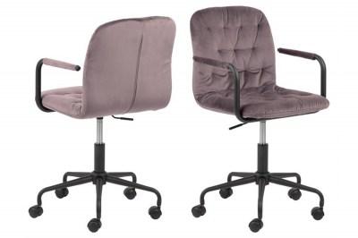 Designová kancelářská židle Zara růžová