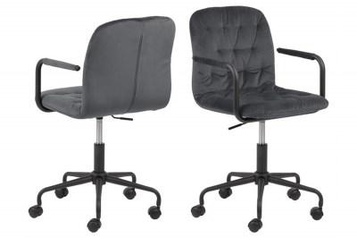 Designová kancelářská židle Zara tmavě šedá