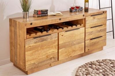 Designová komoda Harlow 150 cm přírodní - borovice