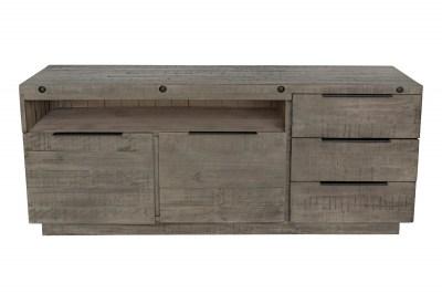 Designová komoda Harlow 150 cm šedá - borovice