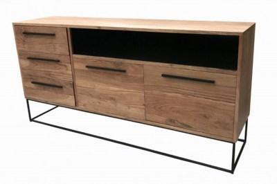 Designová komoda Malakai 165 cm přírodní - akácie