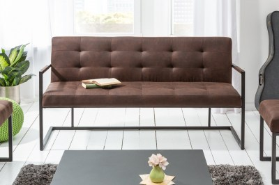 Designová lavice Cowboy 160 cm vinatge hnědá