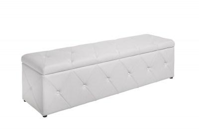 Designová lavice Spectacular 140 cm bílá koženka