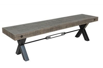 Designová lavice Thunder 170 cm šedá - borovice