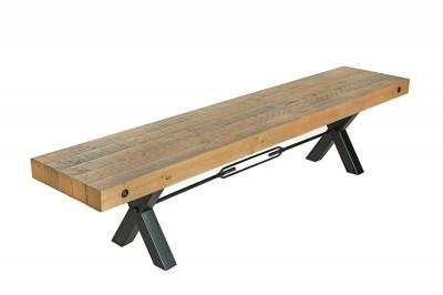 Designová lavice Thunder 200 cm přírodní - borovice