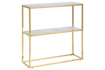 Designová police Agostino 79 cm zlatá - sklo