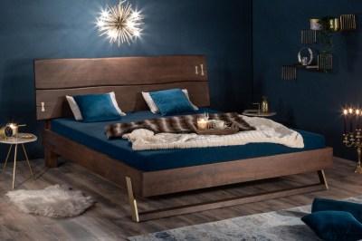 Designová postel Massive 160 x 200 cm akácie vinegar