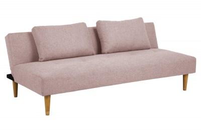Designová rozkládací sedačka Amya 180 cm růžová - dub