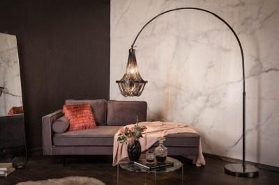 Designová stojanová lampa Kingdom 170 - 210 cm černá