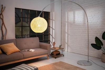 Designová stojanová lampa Omari 205 bílá