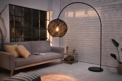 Designová stojanová lampa Omari 205 černá