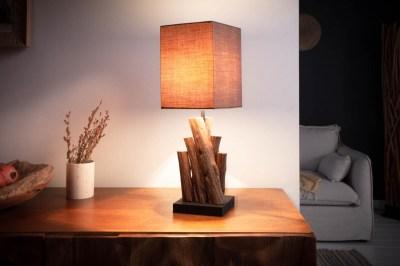 Designová stolní lampa Desmond 45 cm hnědá - Ironwood