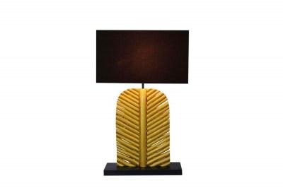 Designová stolní lampa Lance 63 cm černo zlatá - longan