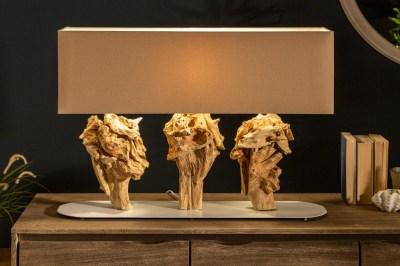 Designová stolní lampa Marina 80 cm béžová - akácie