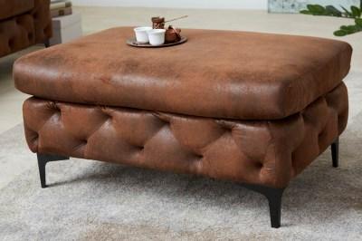 Designová taburetka Rococo antik hnědá