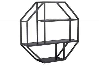 Designová police Naja Octagon černá