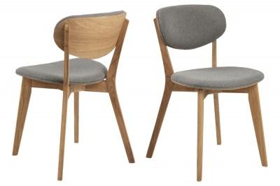Designová židle Aidyn šedá - přírodní