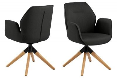 Designová židle Ariella černá - přírodní
