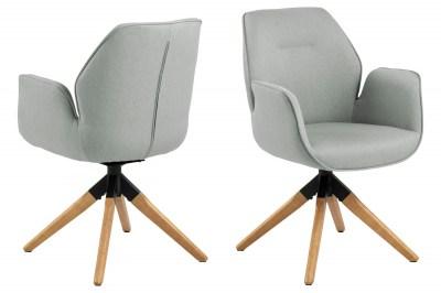 Designová židle Ariella šedá - přírodní