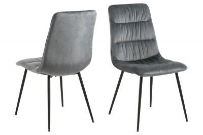 Designová židle Charley tmavě šedá