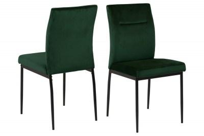 Designová židle Kassandra tmavě zelená
