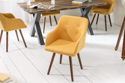 Dizjanová židle Sweden Master hořčicově žlutá