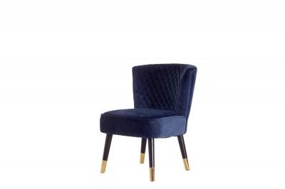 Designové křeslo Anabella modrý samet