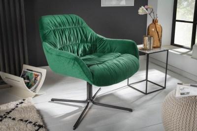 Designové křeslo Bently smaragdově zelený samet