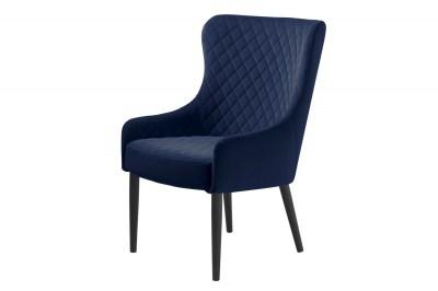Designové křeslo Hallie modrý samet
