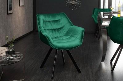 Designové křeslo Kiara smargdově zelené