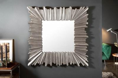 Designové nástěnné zrcadlo Kathleen 96 cm stříbrné