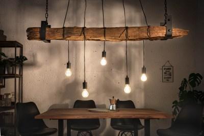 Designové závěsné světlo Shark 152 cm recyklované dřevo