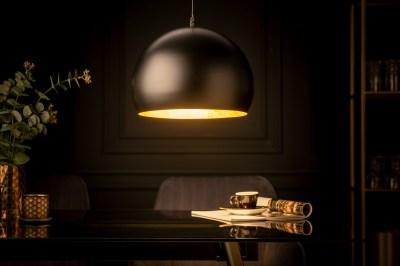 Designové závěsné svítidlo Colt 30 cm zlaté listy černé