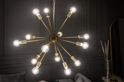 Designové závěsné svítidlo Daube 85 cm zlaté