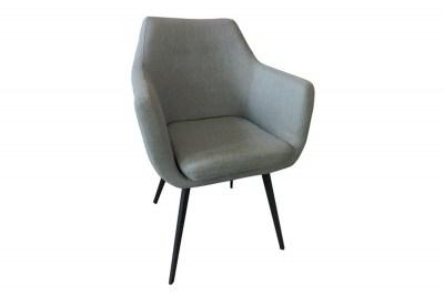 Designové křeslo Almond šedé