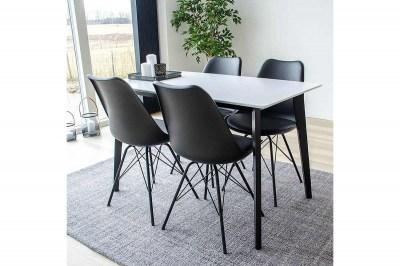 Designový jídelní stůl Carmen, černý / bílý