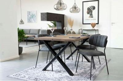Designový jídelní stůl Jonathon 140 cm kouřový dub