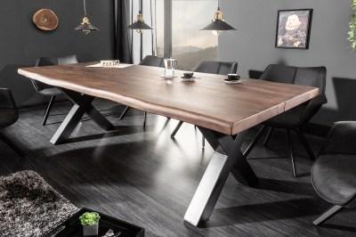 Designový jídelní stůl Lorelei 220 cm hnědý / akácie