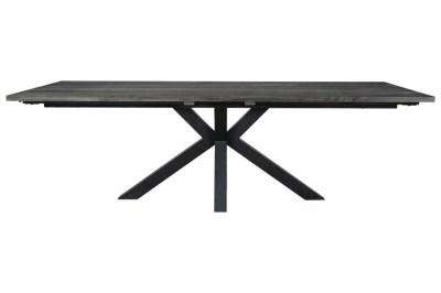 Designový jídelní stůl Madie tmavě šedý 240 - 340 cm
