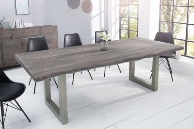 Designový jídelní stůl Massive 220 cm šedá akácie