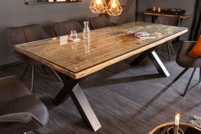 Designový jídelní stůl Shark X 220 cm přírodní